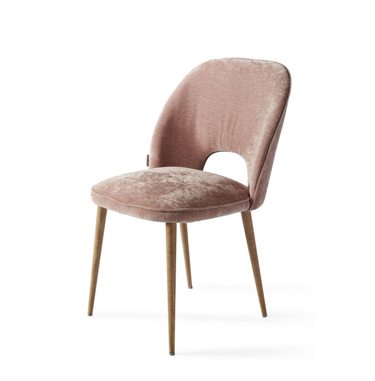 Design Tafel Stoelen.Victoria Dining Chair Velvet Pink Eetkamerstoelen Stoelen