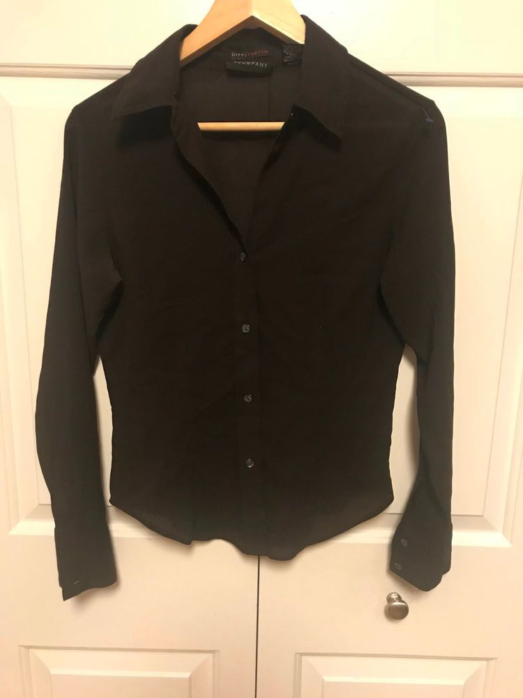 New York   Company Women s Top Long Sleeve Button-Down Shirt Career Size  Small   b27126807