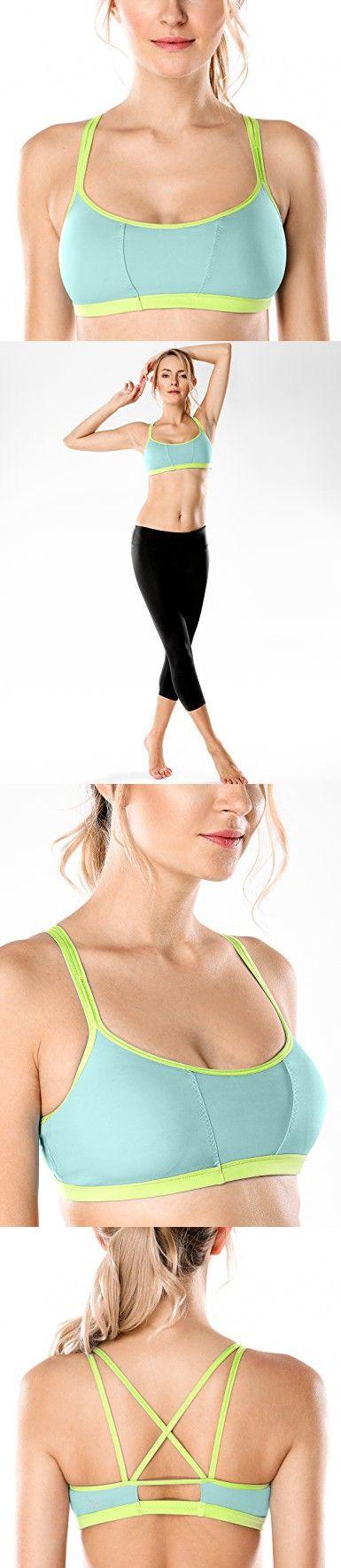 94aa4bfc9fc0c CRZ YOGA Women s Padded Cool-look Criss Cross Strappy Yoga Sports Bra  Multicoloured  8