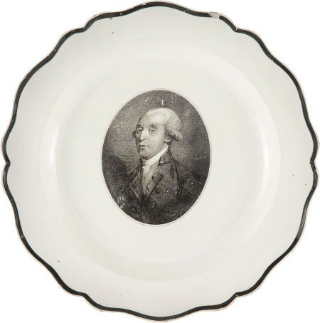 "42006: James Madison: Liverpool Plate. 10"" soft-paste p : Lot 42006"