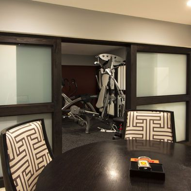 now you see it now you don't  basement design home gym