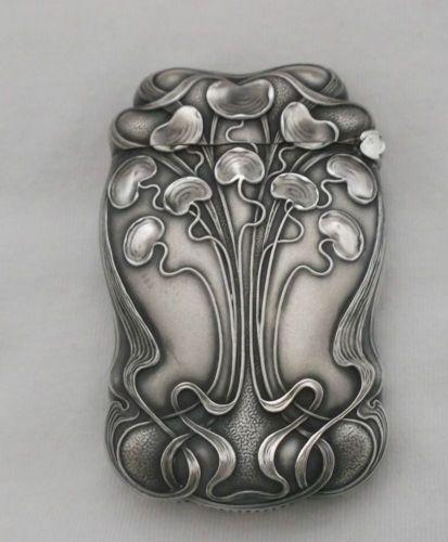 William B Kerr Company 1880 1927 Sterling Art Nouveau Match Safe Box Ebay Art Nouveau Jewelry Art Nouveau Design Art Nouveau