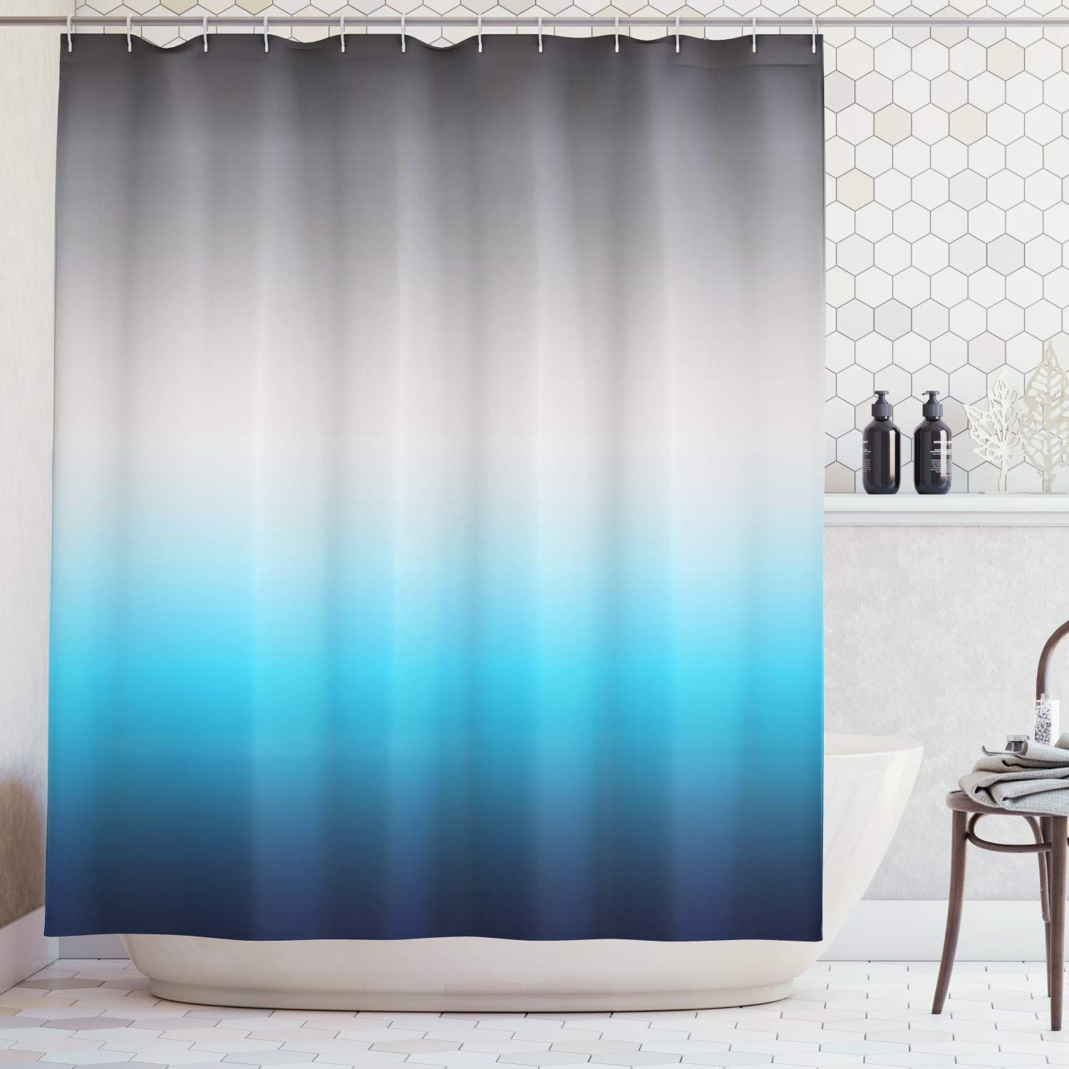 ombre colorful design gray blue navy