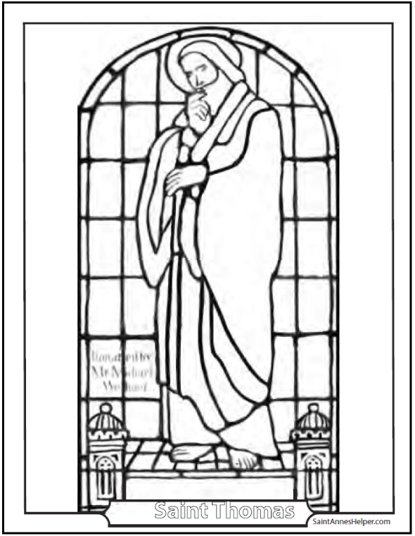 Saint Thomas Apostle Coloring Page Doubting Didymus The Twin