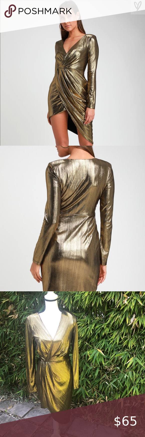 Ryse The Label Asymmetrical Gold Metallic Dress Ryse The Label Asymmetrical Gold Metallic Dress Like New Metallic Gold Dress Metallic Dress Green Fitted Dress [ 1740 x 580 Pixel ]