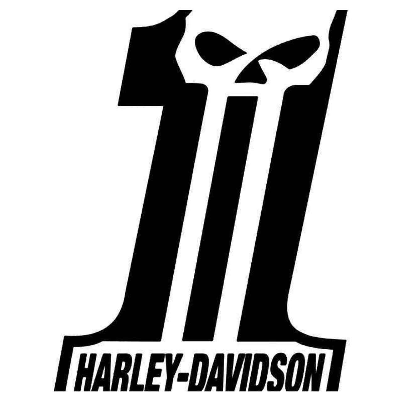 Harley Davidson Motorcycles Dark Customs Skull Vinyl Decal Sticker