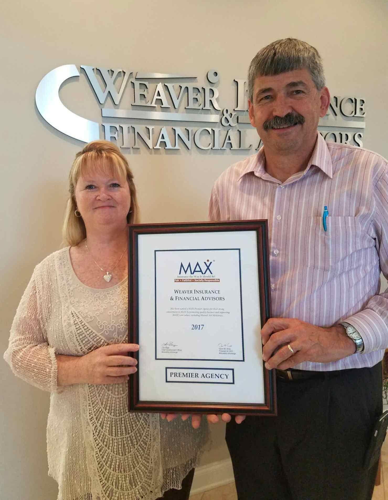 Weaver insurance financial advisors wins top honors