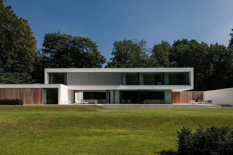 Façade terrasse hs residence par cubyc architects bruges belgique