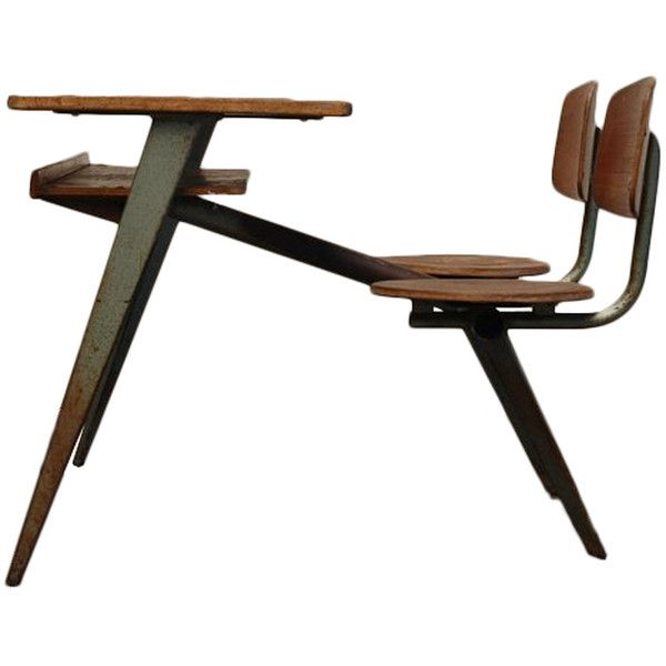 Jean Prouve Compass school desk for Ateliers Jean Prouve ❤ liked on