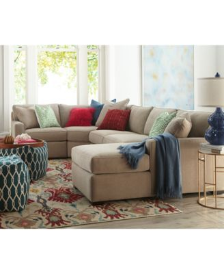 Radley Fabric Sectional Sofa Collection, Created For Macyu0027s   Furniture    Macyu0027s