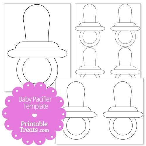 printable baby pacifier template from printabletreats com let me
