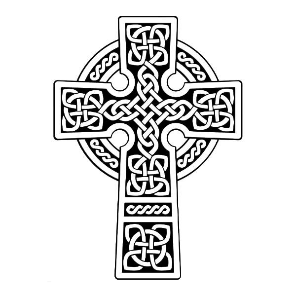 Cornish Celtic Cross Coloring Pages