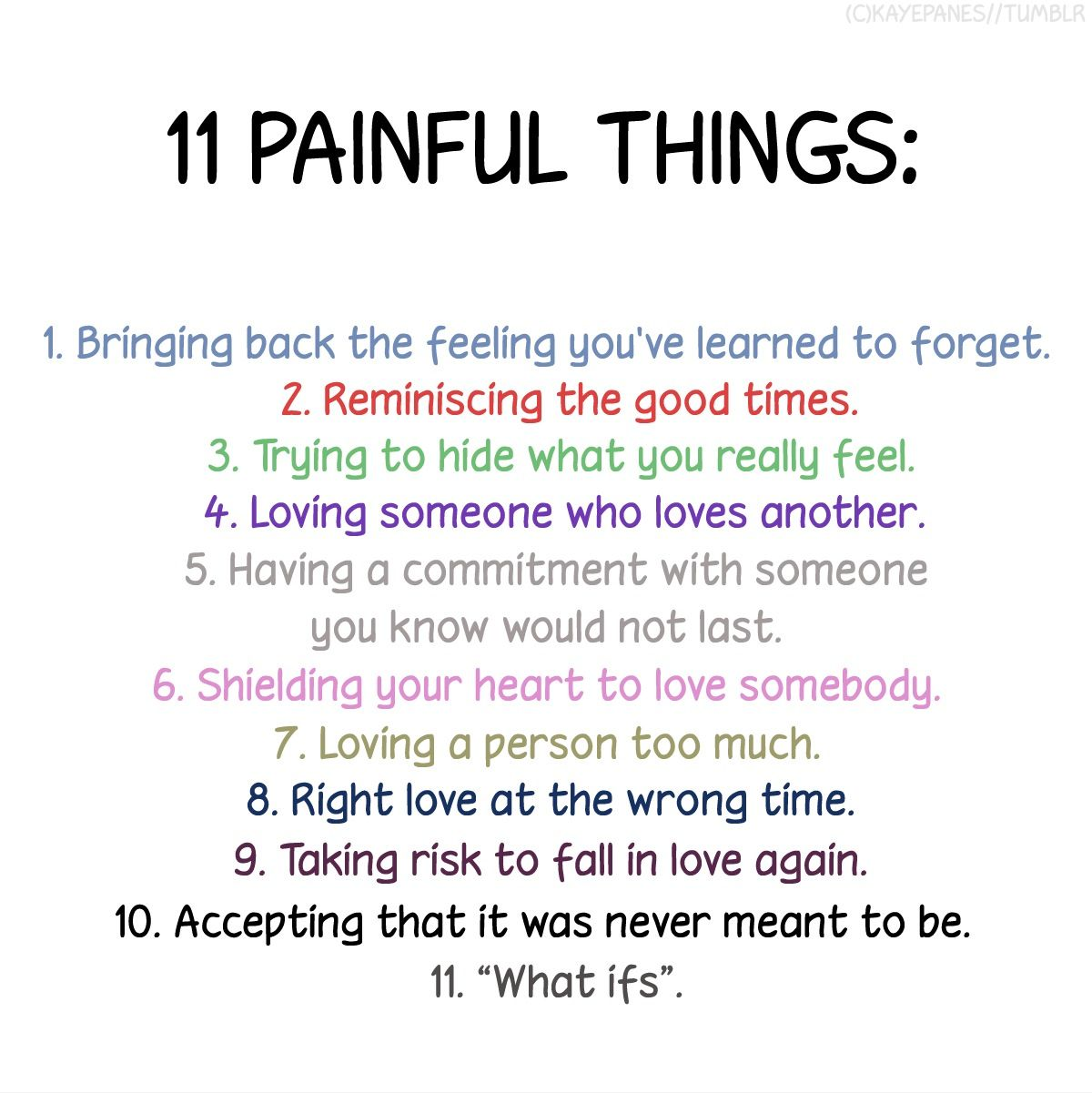 11 Painful Things picture created by Brittany Lan Image tagged with love cute quotes and was added on