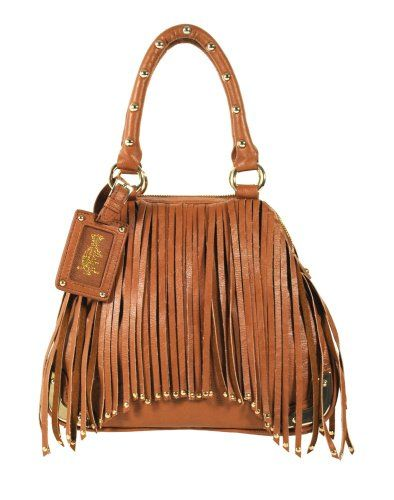 Christian Audigier Top Handle Handbag Joanna 3PPU032CAR_CAMEL  Was  $205.00 Now On Sale At  $39.99