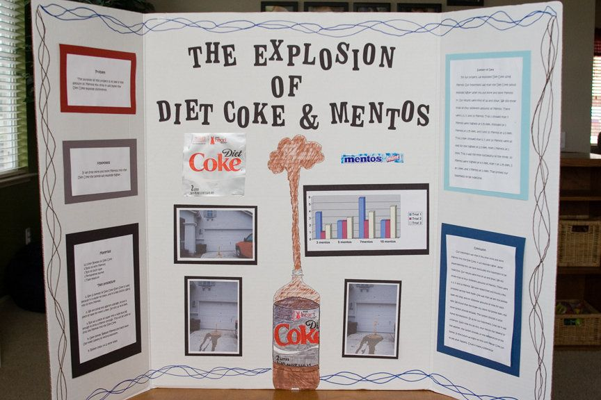 Diet Coke and Mentos Science Fair Project Shocking Pinterest