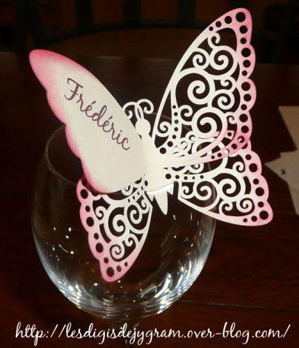 marque-place papillon - butterfly place card   mes fichiers de