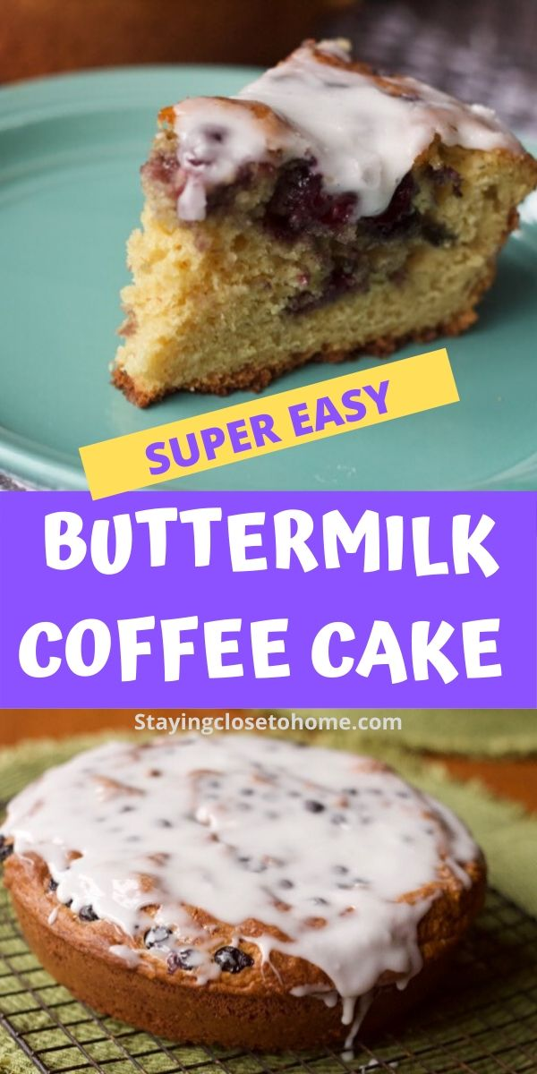 Buttermilk Coffee Cake Recipe Add Any Fruit Flavors Recipe In 2020 Coffee Cake Recipes Coffee Cake Buttermilk Coffee Cake