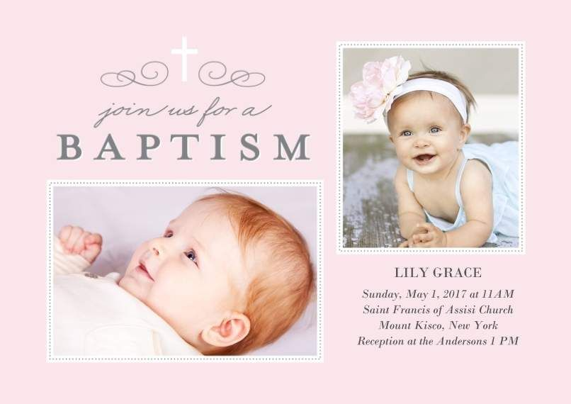 Baptism cross collage with images paper cards 5x7