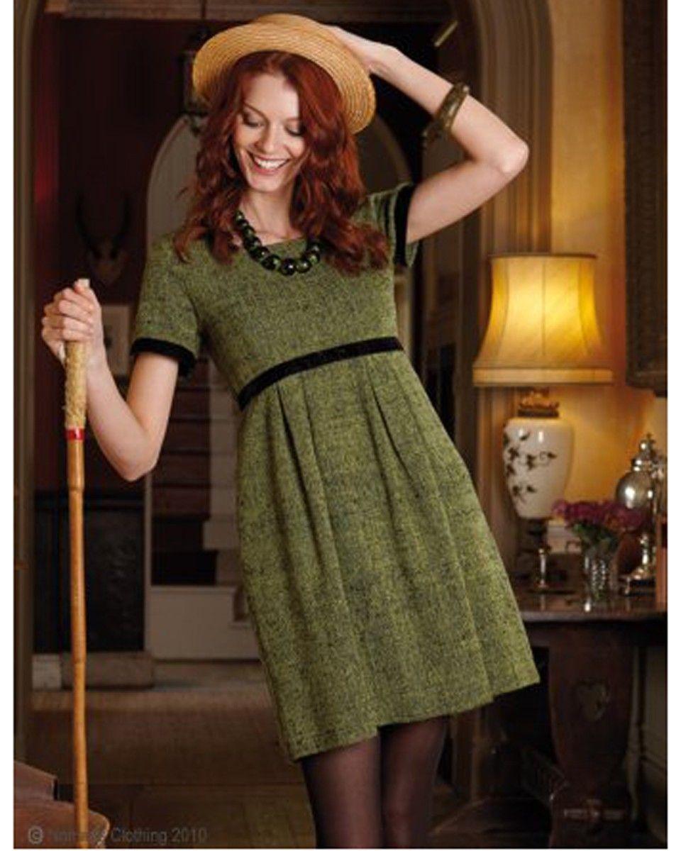 Fair trade velvet trim dress