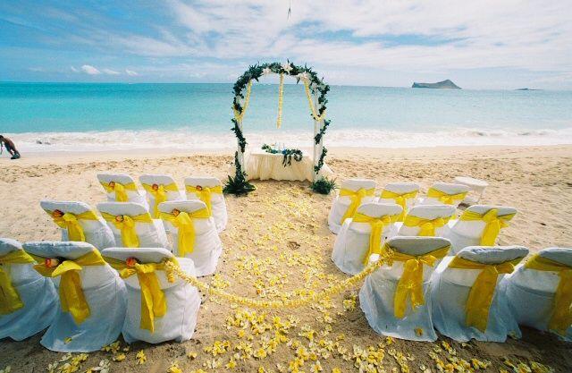 wedding set plumeria photos of beach hawaii