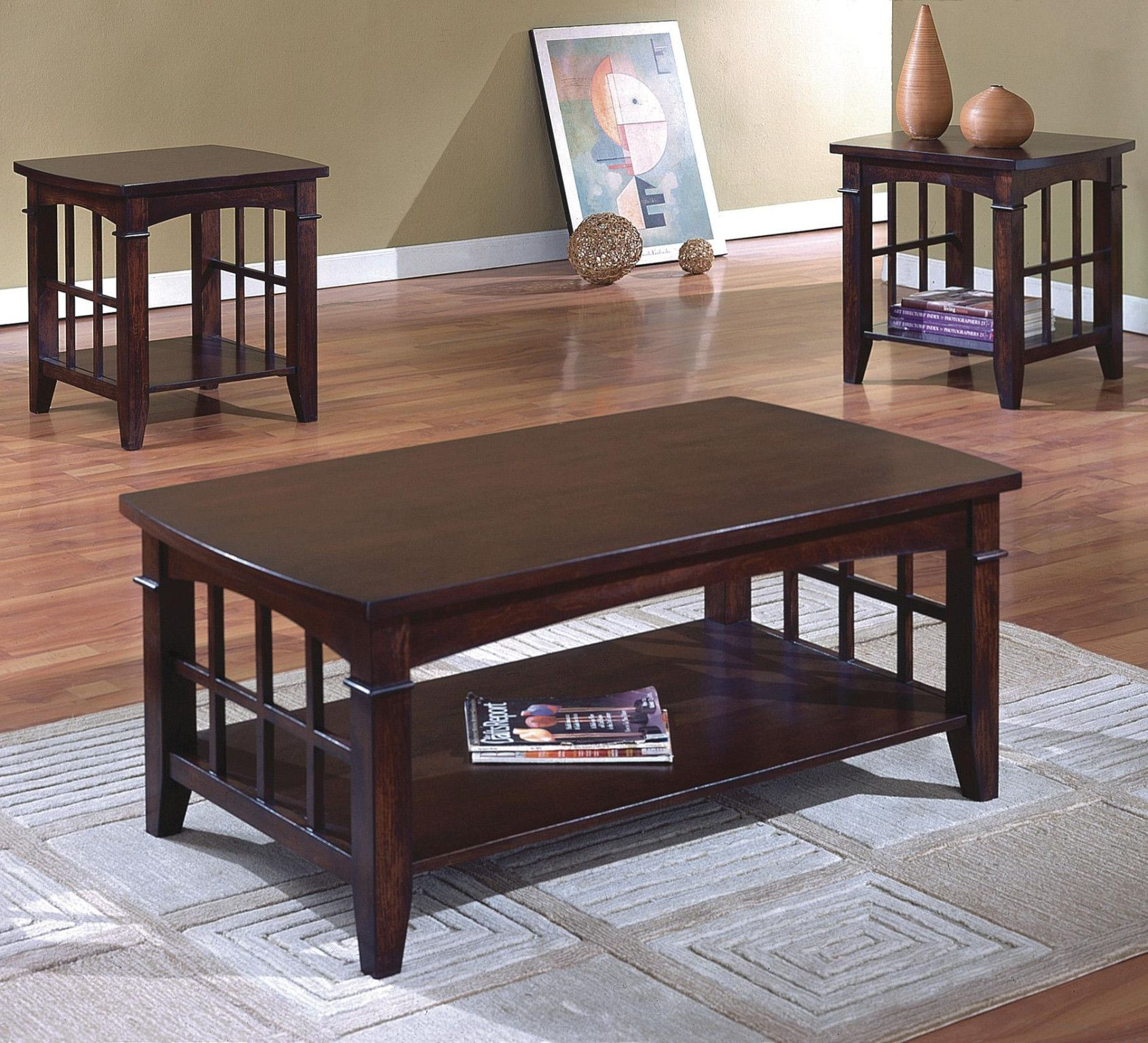Camino 3 piece table set coffee and 2 end tables 34900 coffee camino 3 piece table set coffee and 2 end tables 34900 coffee table 48 x geotapseo Image collections