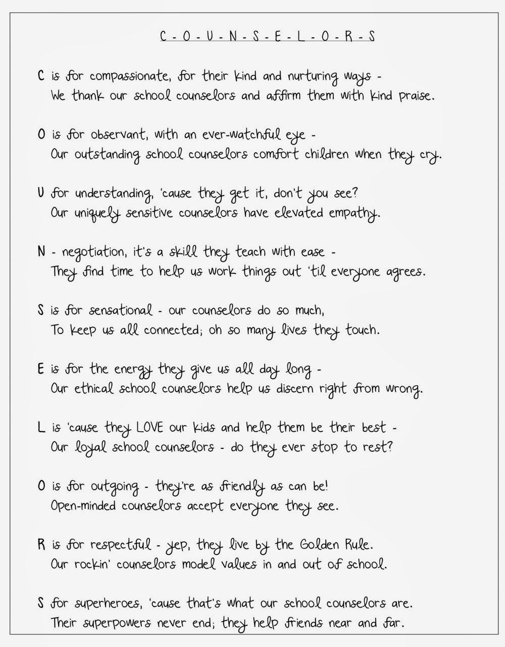 A Poem For School Counselors  Products I Love