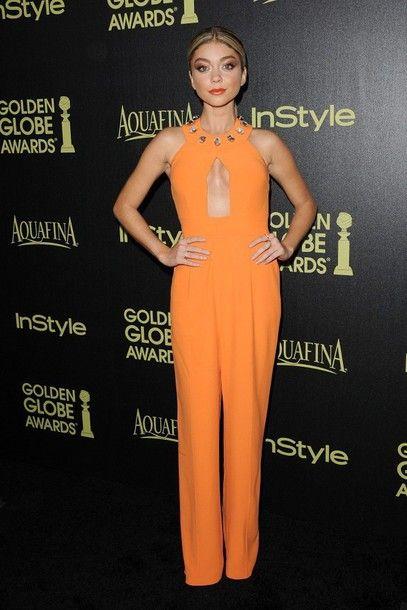 Amazing orange jumpsuit
