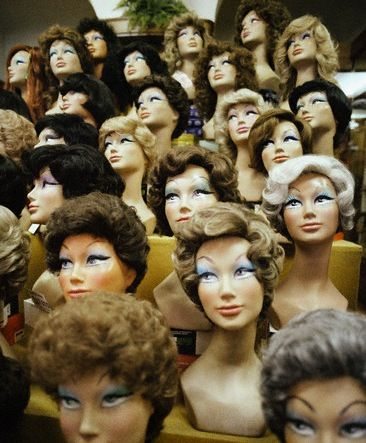 doll heads were much better looking back in the day - mom and mama both wore wigs at one time or another