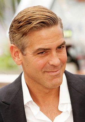 men's hair  george clooney suave  long hair styles men