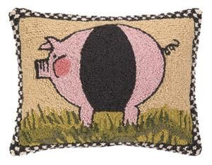 Pig With Border Hook Pillow $44.00