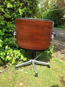 Miraculous Vintage Gordon Russell Giroflex Rosewood Leather Low Back Machost Co Dining Chair Design Ideas Machostcouk