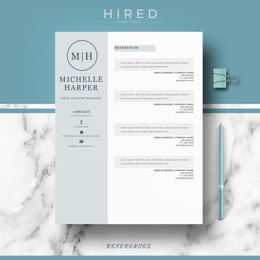 "Professional & Modern Resume Template for MS Word: ""Michelle ..."
