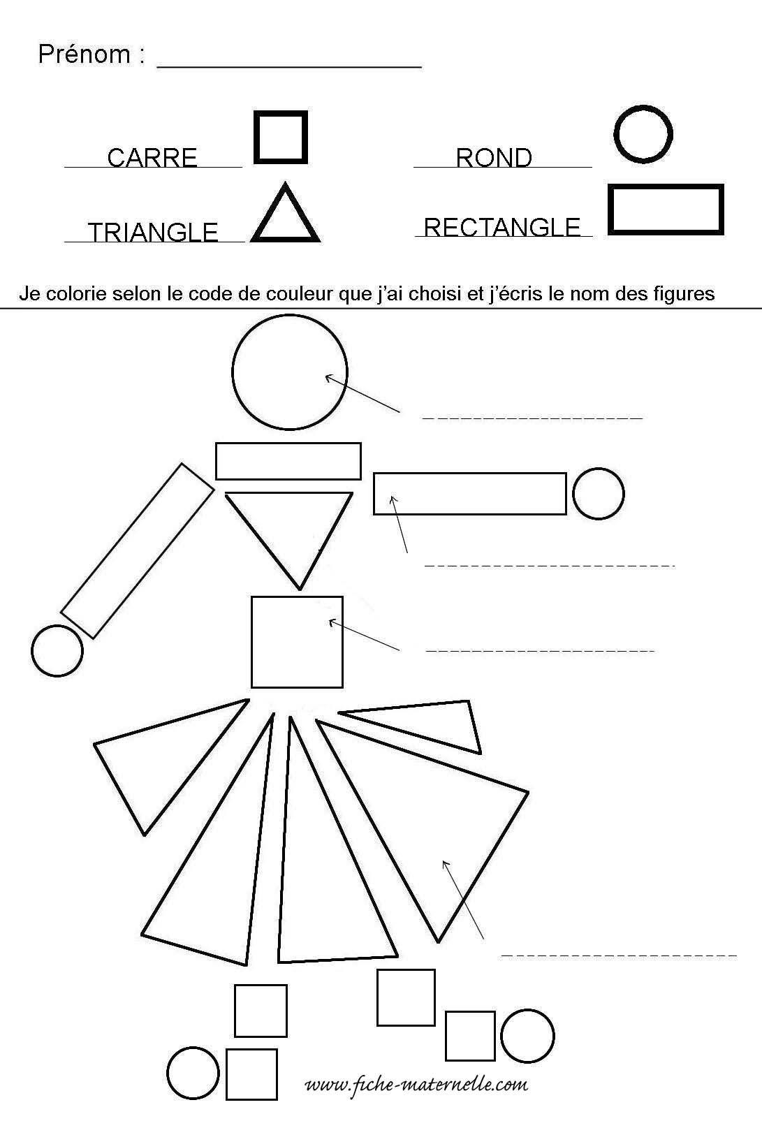 Reconna tre les formes géométriques en maternelle en moyenne section