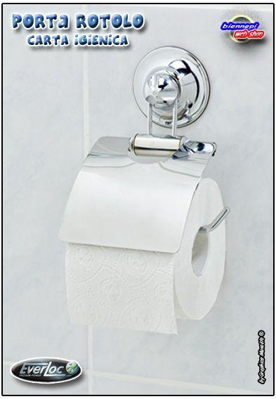 Accessori Bagno A Ventosa Everloc.Nuovo Porta Rotolo Carta Igienica Acciaio Con Ventosa Forte Tenuta Everloc Paper Holder Toilet Paper Holder Toilet Paper