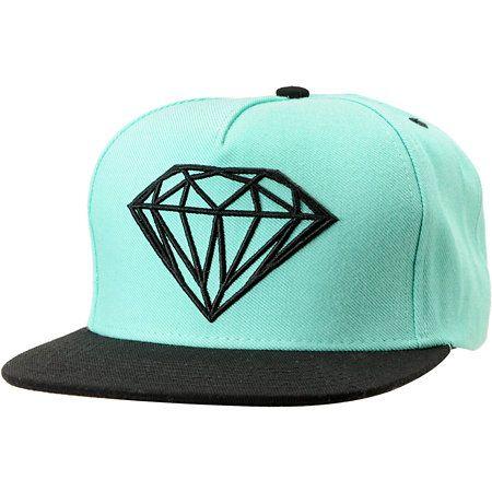 21738127a Diamond Supply Co Brilliant Mint & Black Snapback Hat in 2019 ...