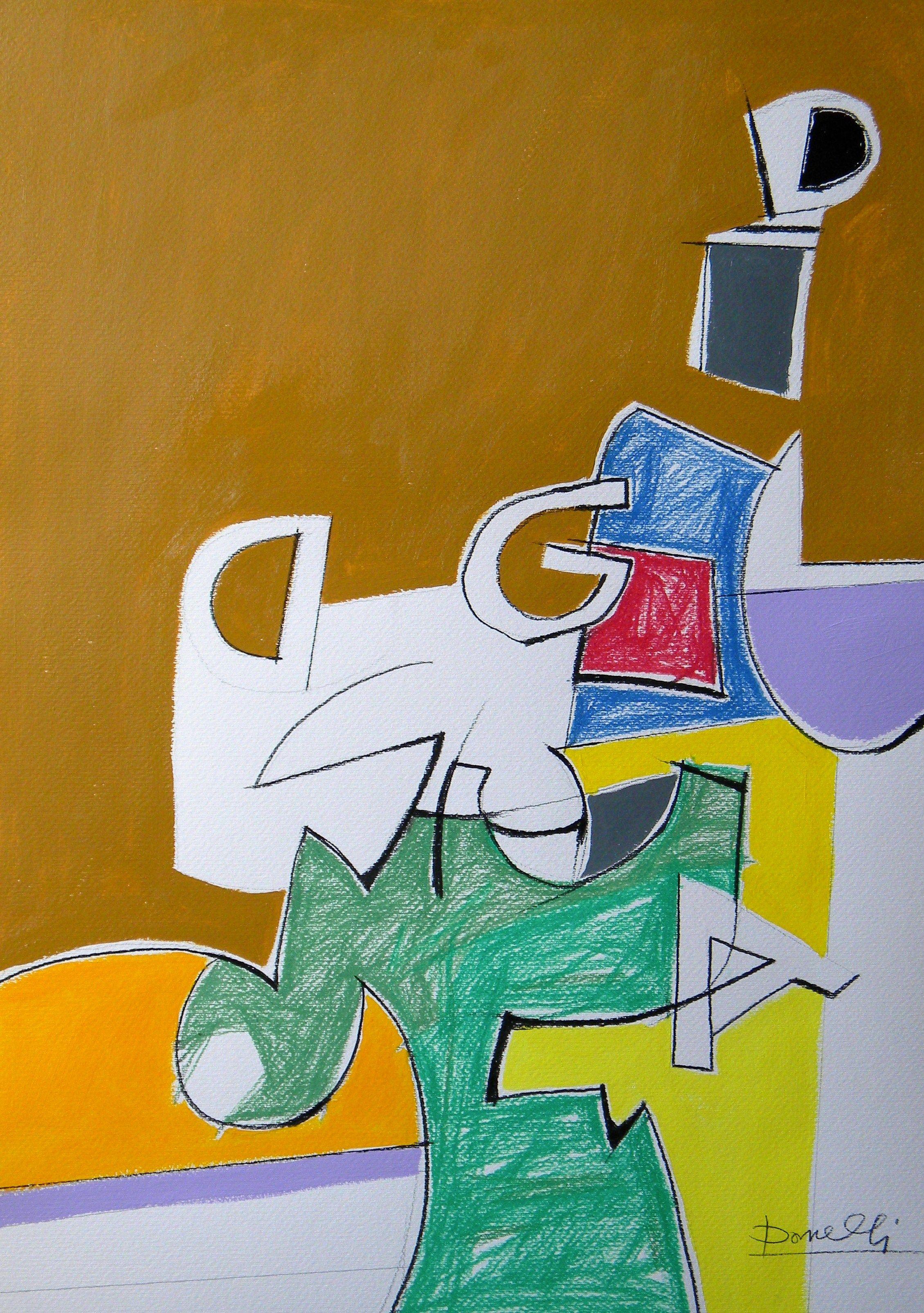 Spazio e oggetti in una struttura metafisica. Space and objects in a metaphysical structure. 2010. Gabriele Donelli