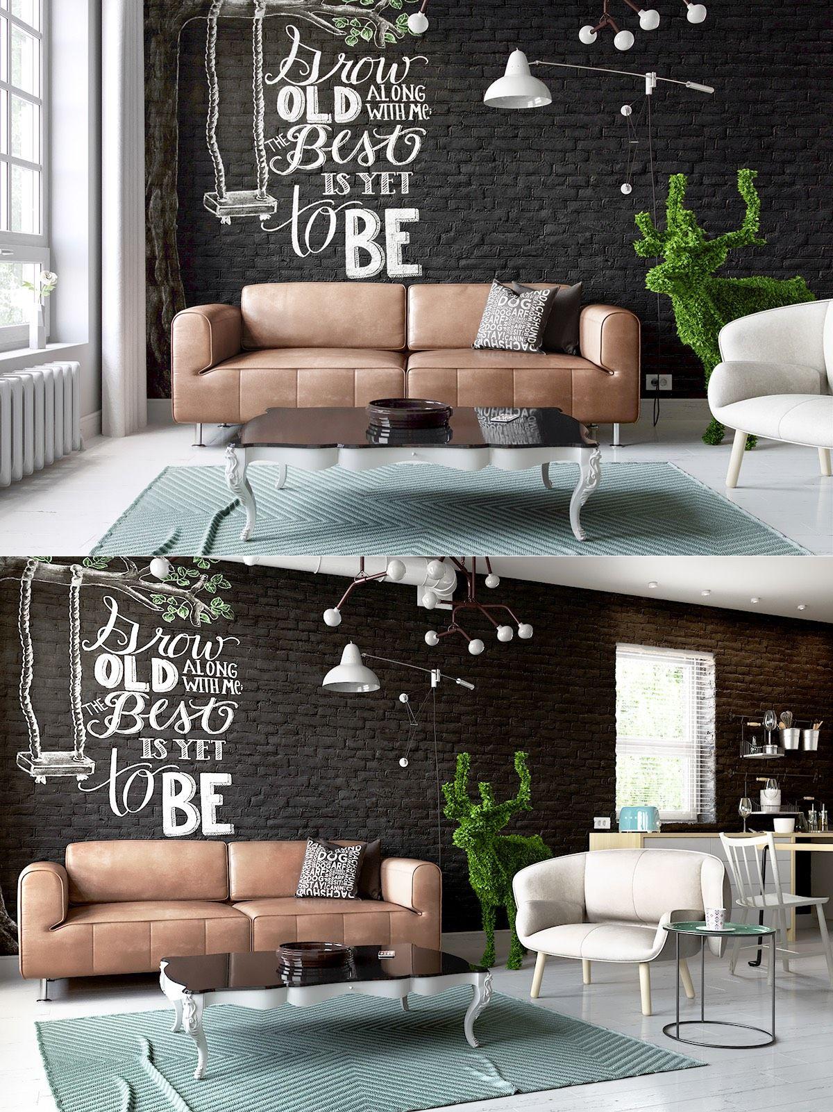 Schwarze Wohnzimmer Ideen und Inspiration   schwarze Wohnzimmer ...