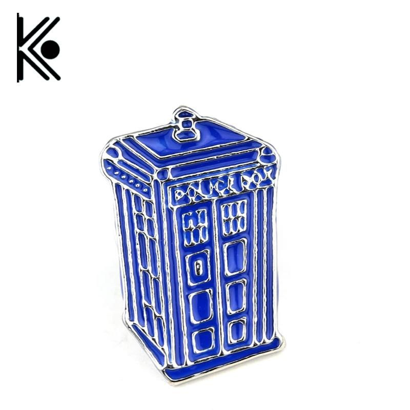 Doctor who dr mysterious series brooch badges fashion blue