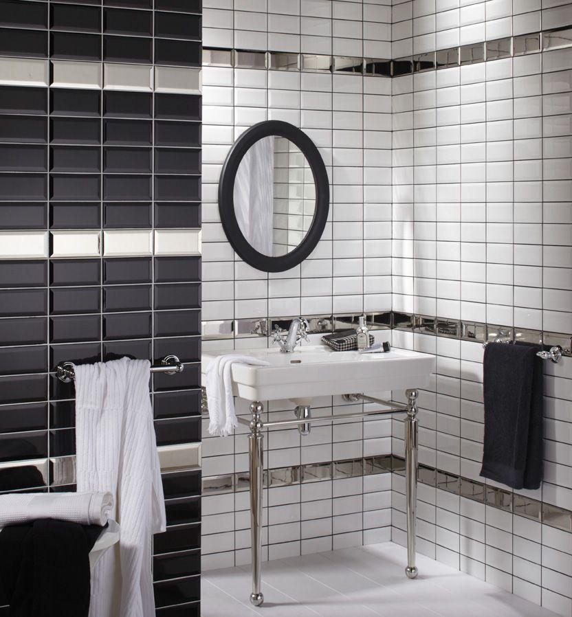 Carrelage m tro salle de bains buanderie en 2018 pinterest salle de bain salle de bain - Carrelage salle de bain noir ...
