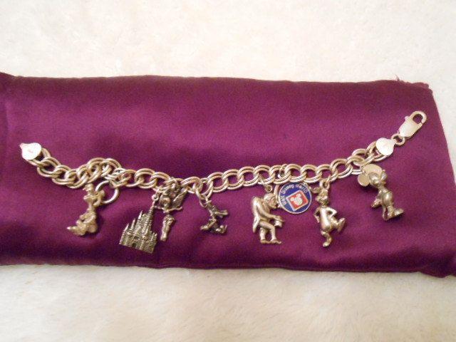 Sale Was 295 00 Disney Vintage Sterling Silver Charm Bracelet
