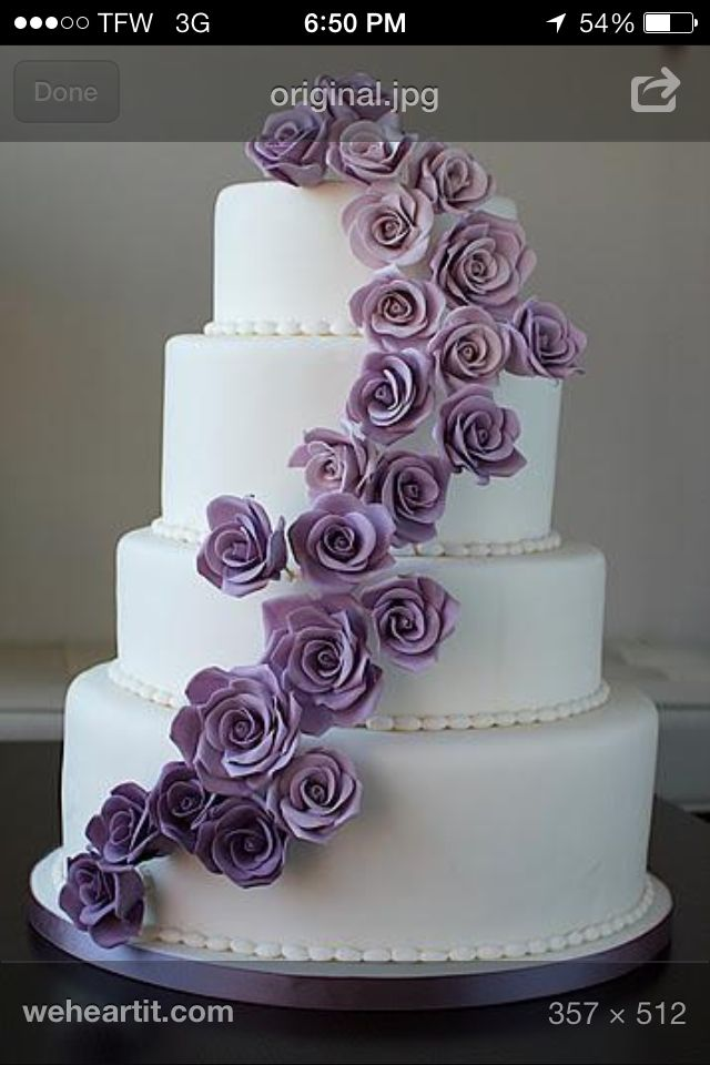 Pin By Amber Small On Wedding Ideas Wedding Cake Roses Purple