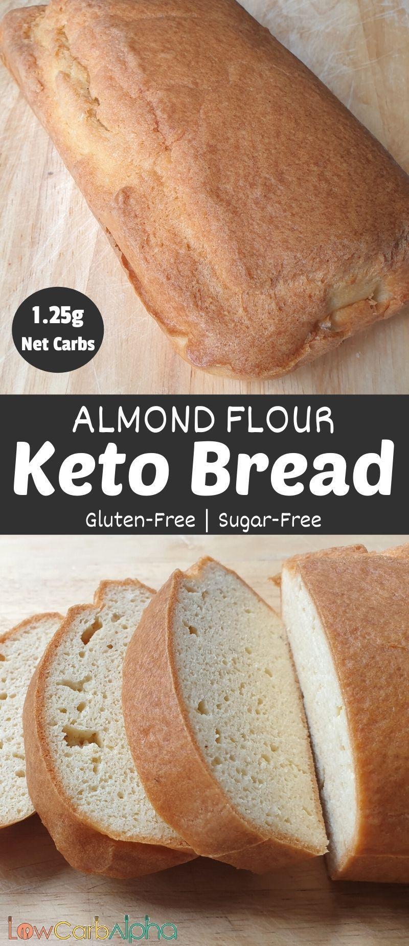 Keto Almond Flour Bread Low Carb Alpha Recipe In 2020 Tasty Bread Recipe Recipes Delicious Bread