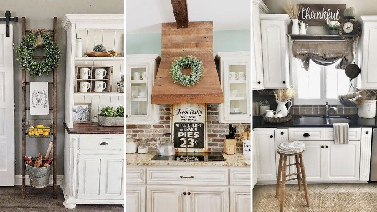 DIY Rustic Shabby chic style Kitchen decor Ideas