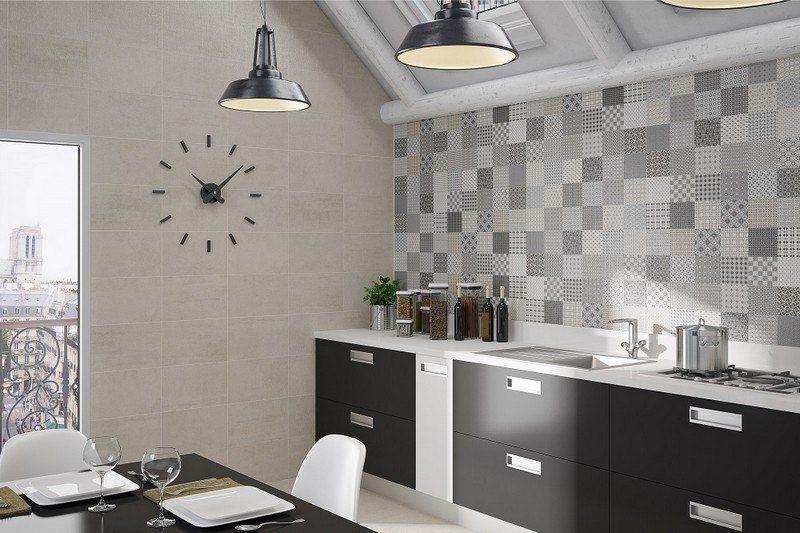 Crédence cuisine carreaux de ciment patchwork et artistique