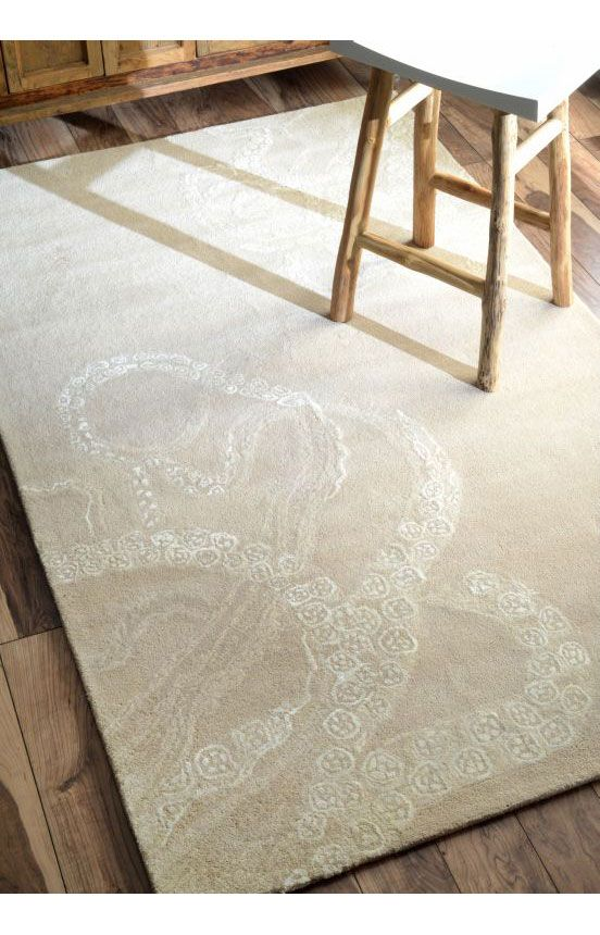 rugs usa sierra octopus tail ivory rug rugs usa pre black friday sale up to 75 off area rug. Black Bedroom Furniture Sets. Home Design Ideas