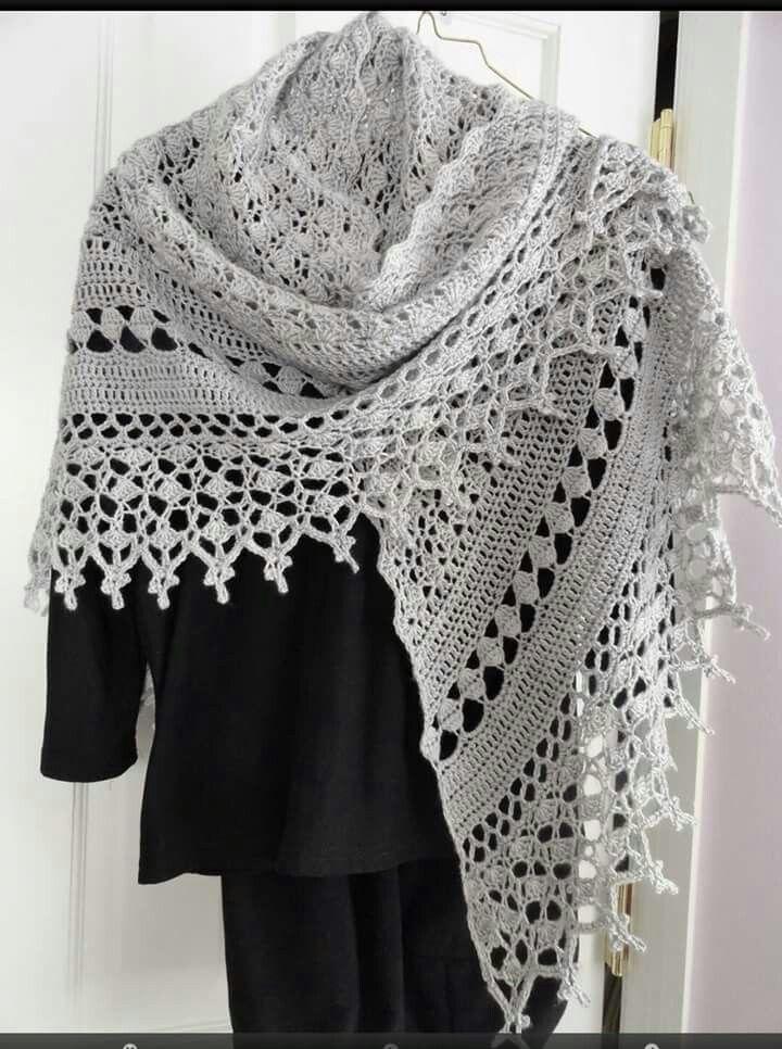Gehaakte faith shawl | crochet | Pinterest | Häkelanleitung und Häkeln