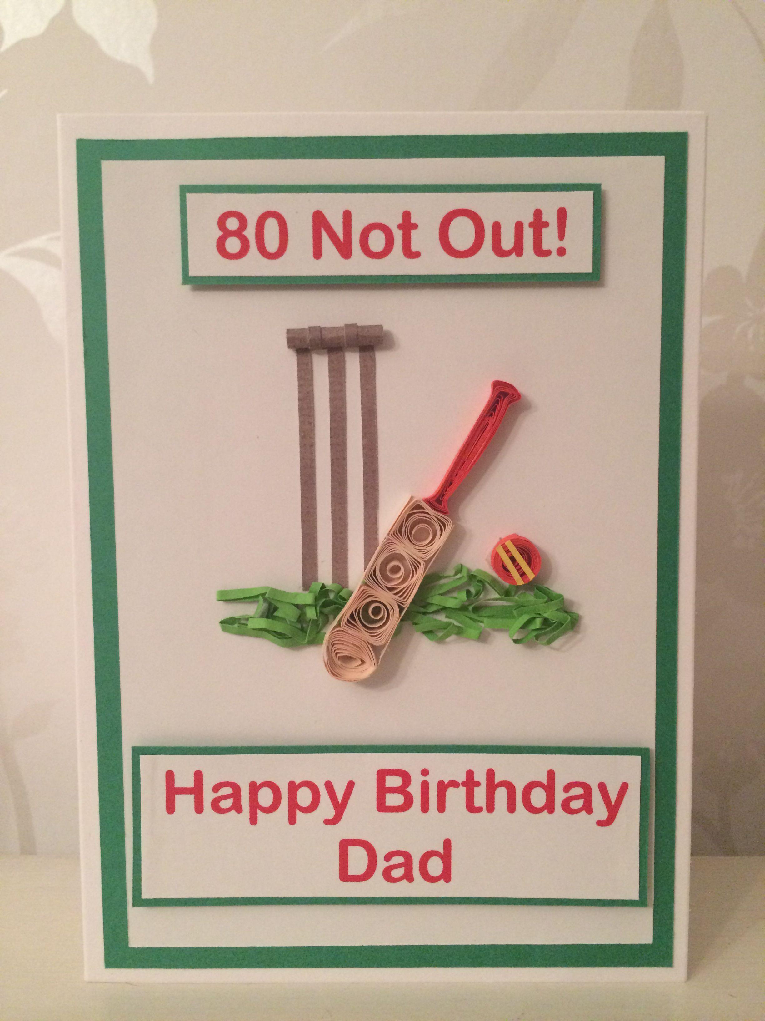 Handmade Quilled Cricket Birthday Card Quilling Birthday Cards Dad Birthday Card Gifts Wrapping Diy