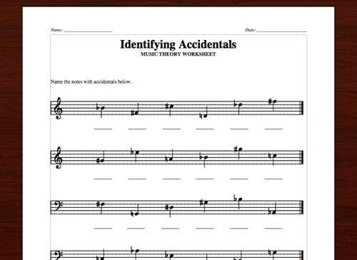 Sharps Flats Naturals FREE Printable Theory Worksheets on The – Printable Music Worksheets