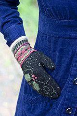 Ravelry: Holly and Poinsettia Mittens pattern by Carol Sunday