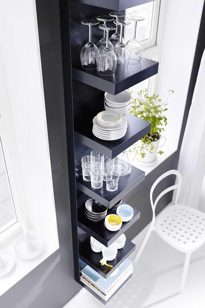Portaoggetti Da Parete Per Cucina mensole ikea: 15 modi di utilizzarle in modo furbo per